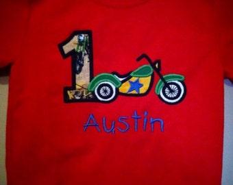 Motorcycle Numbered Birthday Shirt