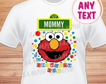 Mommy of the Birthday Boy. Sesame Street Elmo Digital File. Printable Iron on Transfer. Family Birthday Shirts. Elmo Instant Download.