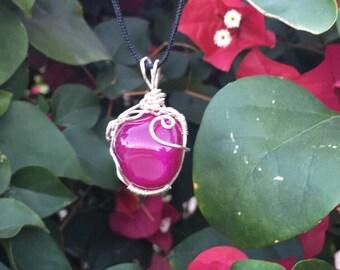 Picture Jasper Necklace Wire Wrapped Pendant