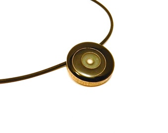 Vertigo Necklace in Shades of Gray (OOAK 3D printed pendant with enamel)