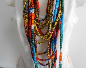 wax Ankara MULTISTRAND necklace