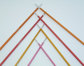 "KnitPro Zing 100cm, 40"" Fixed Circular Knitting Needles,  colour-coded  and lightweight"