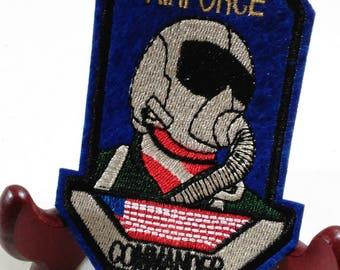 Airforce Commander Patch/New Iron On (B)