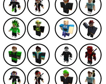 Roblox Boy Character #1 Edible Wafer Rice Paper Cake Cupcake Toppers x 24 PRECUT
