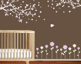 Baby Wall Decal, Children Wall Decal, Nursery Wall Decal, Wall Decals Nursery, Wall Decals Flower Branch