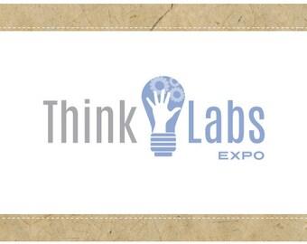 SALE Custom Logo - PreDesigned Logo - PreMade Logo - Vector Logo - Ooako Logo - THINK LABS Logo Design - Lightbulb Logo - Idea Logo
