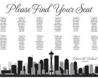 Seattle Seating Chart Printable PDF Custom Poster Digital Design Print File ONLY Seating Plan Washington Seat Plan