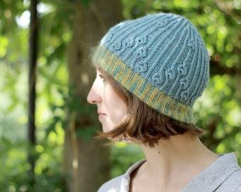 Camaura hat PDF knitting pattern
