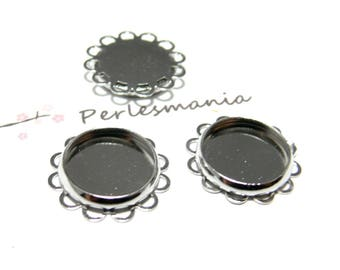 10 supports flat 12mm PP wave pendant