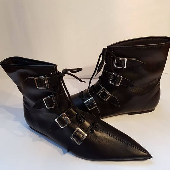 Goth Pikes  X4 Buckle Laces Winklepickers Boots Gothic Batcave Wgt Siouxsie 80s  Vintage Pointy by Etsy