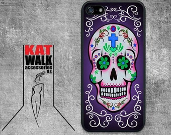 Sugar Skull iPhone Rubber Case. Day of the Dead iPhone 5/5S Case. Skull Phone case. Día de Muertos Phone Cover. Day of the Dead Accessory.