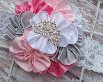 Princess Headband, Birthday Headband, Crown Headband, Summer Headband, Flower Headband, Princess Headbands, 1st Birthday