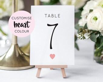 Printable Table Numbers | Wedding Table Numbers | Wedding Printable | PDF | Download | Simple | Minimalist | Elizabeth suite #049-18