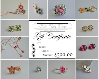 Cecile Raley Design Jewelry Gift Certificate 500.00 USD Dollars
