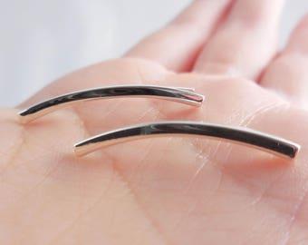 925 Sterling Silver Bar Ear Pins, Ear Pins, Ear Crawlers, Ear Climber Earrings, Ear Crawler Earrings, Ear Sweeps, Line Pins, Line Pin, Line
