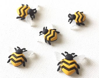 Bee Magnets, Bumble Bee Magnets, Bee Pushpins, Bumble Bee Pushpins, Bee Refrigerator Magnets, Bee Fridge Magnet, Kitchen Decor, Office Decor