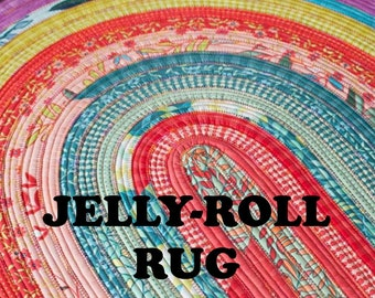 Jelly Roll Rug Sewing Pattern RJ Designs