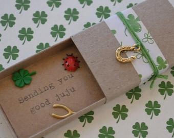 Good Juju Message Box with Fabric Gift Bag