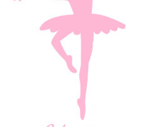 """FREE SHIPPING //  2.5x5"""" Ballerina Vinyl Decal, Car Decal, Decal, Great For Water bottles, School Supplies, Lunch boxes, Dancer, Gymnast"""