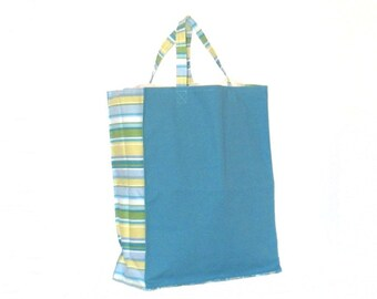 Shopping Bag, Tote Bag, Canvas, Reusable, Teal