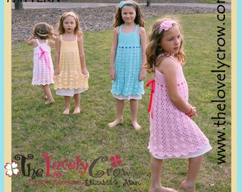 Crochet Pattern Girls Dress BELLA LENA DRESS