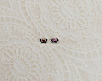 Minnie ears inspired floating charms for memory lockets
