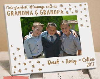 Personalized Picture Frame for Grandparents - Picture Frame for Grandparents - Grandparents Gifts - Gift from Grandkids - Personalized Gift