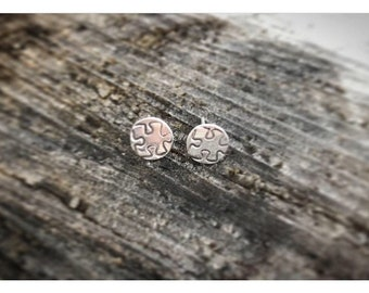 Autism awareness studs, sterling silver studs, post earrings, autism awareness earrings
