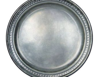 """Pewter Paper Plates 9"""" - Looks Like Pewter But its Paper -58178 fnt"""