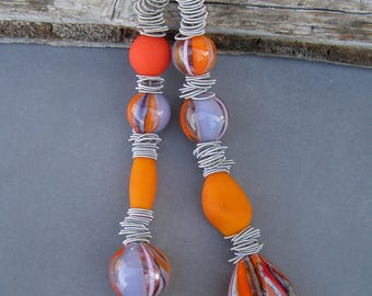 Glass necklace-Murano necklace-Lampwork glass necklace-Collier en verre-glaskette-collana soffiata murano-collar de cristal-Exclusive design