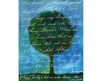 Family Tree Calligraphy Print