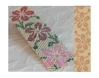 2 Loom or Even Drop Peyote Bead Patterns - Hawaiian Cuff Bracelets - 2 Variations For The Price Of 1