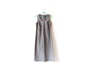 vintage dress 90's grey athletic rave minimalist sleeveless 1990's women's clothing size s small