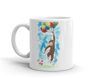 Curious George w/ Balloons Mug