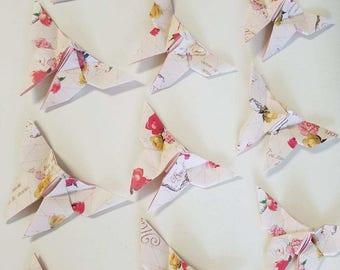 36 Rose Garden Origami Butterflies