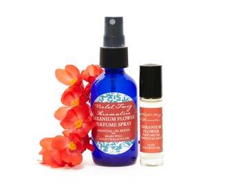 Geranium Flower Perfume - Natural Perfume - Perfume Spray - Floral Perfume - Women's Perfume - Geranium Fragrance - Geranium Oil - Floral