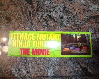 TMNT teenage mutant ninja turtles original MOVIE bumper sticker mint unused 3 pieces