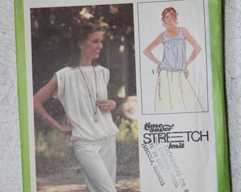 Kimono Sleeve Blouse or Tank Top 1970s Vintage Sewing Pattern SIMPLICITY 8890