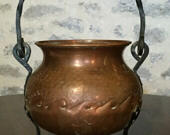 Vintage Copper Pot/Planter, Made in France