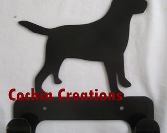 Lab leash holder