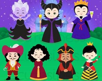 Villain Digital Clipart, Maleficent Clipart, Evil queen clipart