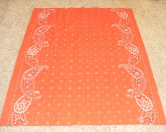 Vintage Red Bandana Table Cloth