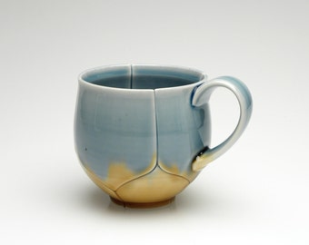 Blue and Gold Lotus Mug