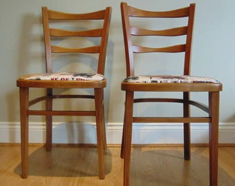 Retro Mid Century Upholstered Chairs