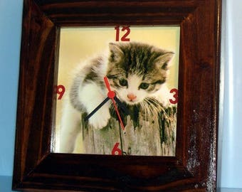 clock square to hang with your personalized picture frame