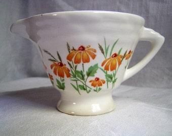 Edwin Knowles Creamer Orange Marigolds Pattern 975