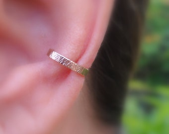 Ear Cuff - Fake Conch Piercing - Fake Piercing - Ear Wrap - Fake Piercings -  14K Rose Gold Filled - 2mm Wide Ear Cuff - Conch Cuff