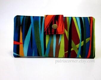 Handmade wallet for women - The Everglades- vegan - bright colors - Custom wallet
