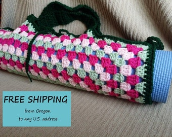 Yoga Mat Bag, Granny Square, Watermelon Original HH Design