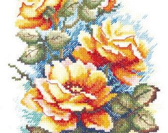 Cross Stitch Kit Flowers/Bouquet